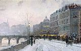 Thomas Kinkade Evening on the Seine painting