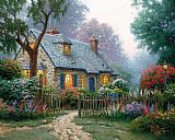 Thomas Kinkade Foxglove Cottage painting