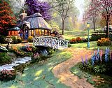Thomas Kinkade Friendship Cottage painting