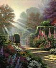 Garden paintings - Garden of Grace by Thomas Kinkade