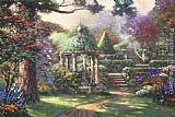Thomas Kinkade Gazebo of Prayer painting