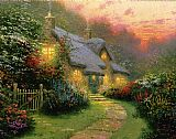 Thomas Kinkade Glory of Evening painting