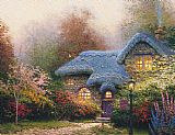 Thomas Kinkade Heather's Hutch painting