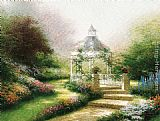 Thomas Kinkade Hidden Gazebo painting