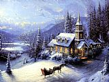 Village paintings - Home For Christmas by Thomas Kinkade