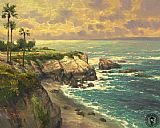 Thomas Kinkade La Jolla Cove painting