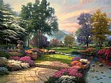 Cottage paintings - Living Waters by Thomas Kinkade