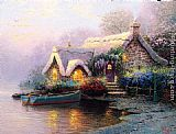 Thomas Kinkade Lochaven Cottage painting