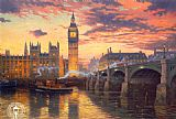 building paintings - London by Thomas Kinkade