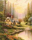 Thomas Kinkade Meadowood Cottage painting
