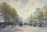 Thomas Kinkade Morning on the Boulevard painting