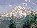 Thomas Kinkade Mount Rainier painting