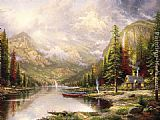 Thomas Kinkade Mountain Majesty painting