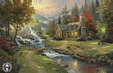 Thomas Kinkade Mountain Paradise painting