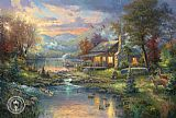 Thomas Kinkade Natures Paradise painting