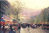 Thomas Kinkade Paris City of Lights painting