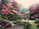 Garden paintings - Pools of Serenity by Thomas Kinkade