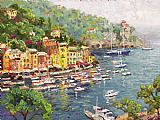 Mediterranean paintings - Portofino by Thomas Kinkade