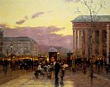 Thomas Kinkade Rainy Dusk, Paris painting