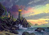 Thomas Kinkade Rock Of Salvation painting