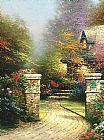 Thomas Kinkade Rose Gate painting
