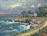 Thomas Kinkade Seaside Village painting