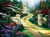 Thomas Kinkade Spring Gate painting