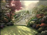 Garden paintings - Stairway to Paradise by Thomas Kinkade