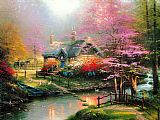Thomas Kinkade Stepping Stone Cottage painting