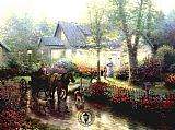 Thomas Kinkade Sunday Outing painting