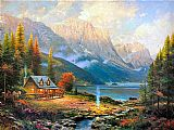 Thomas Kinkade The Beginning of a Perfect Day painting