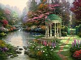 Garden paintings - The Garden of Prayer by Thomas Kinkade