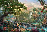 Thomas Kinkade The Jungle Book painting