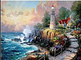 Beach paintings - The Light of Peace by Thomas Kinkade