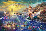 Thomas Kinkade The Little Mermaid painting