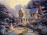 Cottage paintings - The Night Before Christmas by Thomas Kinkade
