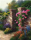 Garden paintings - The Rose Garden by Thomas Kinkade