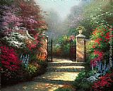 Thomas Kinkade The Victorian Garden painting