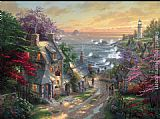 Thomas Kinkade The Village Lighthouse painting