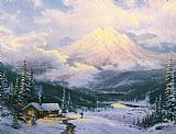 Thomas Kinkade The Warmth Of Home painting