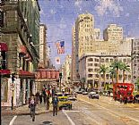 Thomas Kinkade Union Square San Francisco painting