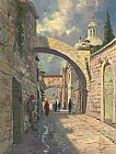Thomas Kinkade Via Dolorosa painting