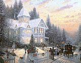 Garden paintings - Victorian Christmas by Thomas Kinkade