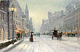 Thomas Kinkade Winter's Dusk painting