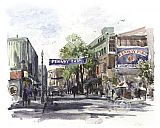 Thomas Kinkade Yawkey Way painting