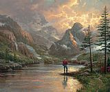 Sunset paintings - almost heaven by Thomas Kinkade