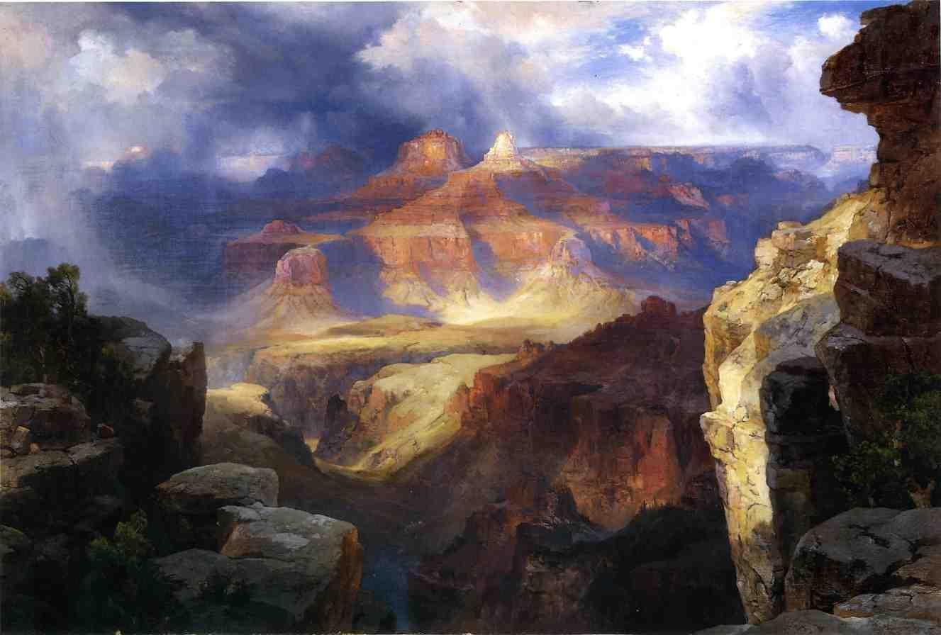 Thomas moran a miracle of nature painting best paintings for Prints of famous paintings for sale