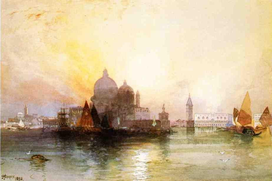 Thomas Moran A View of Venice