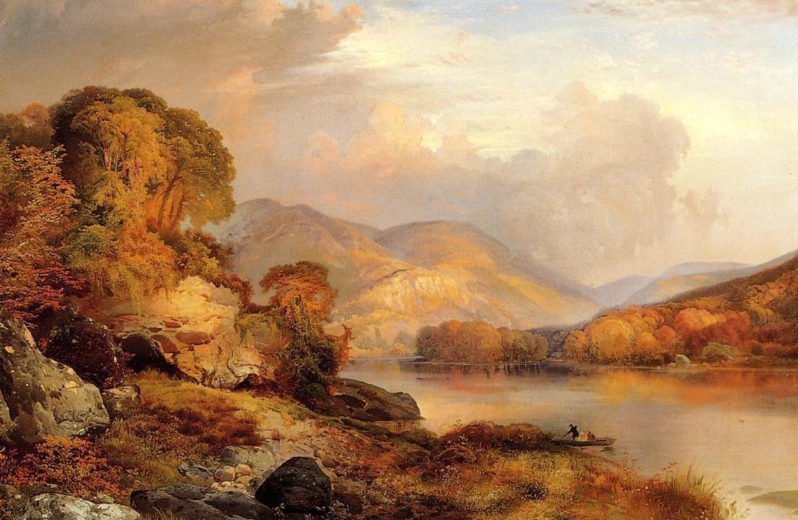Thomas moran autumn landscape painting best paintings for Best mural paint