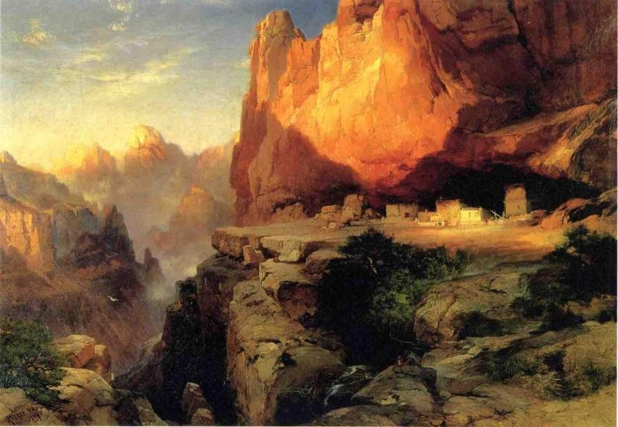 Thomas Moran Cliff Dwellers